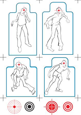 funny vector zombie target Stock Vector - 5444631