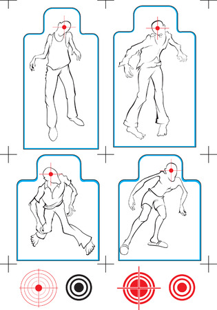 funny vector zombie target Illustration