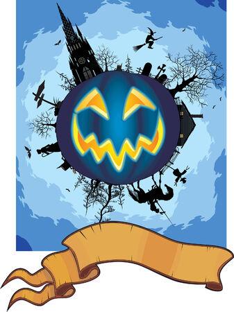 grim halloween card Stock Vector - 5470971