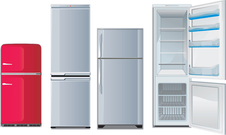 refrigeradores diferentes Ilustración de vector