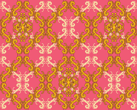 vintage styled design: seamless bright retro wallpaper