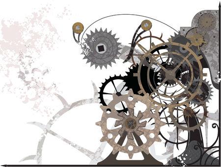 Mechanism_grunge Vectores