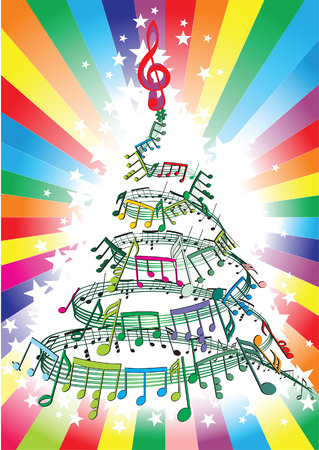 holiday music: new year music notes