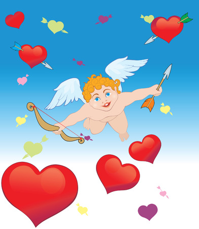 Arrows of Cupid, Valentines Day card Vector