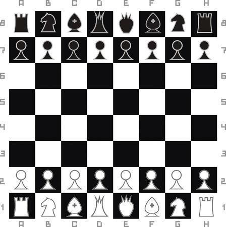 Primitive chess set Stock Vector - 6148067