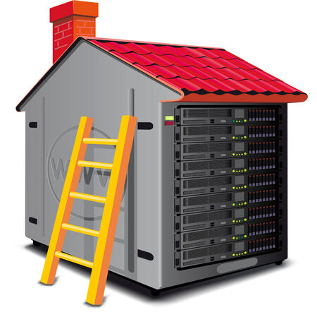 Web server rack designed as a house with a roof Stock Vector - 6764913