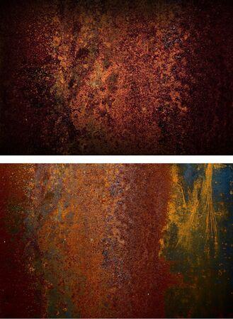 two rusty iron plate. Grunge Background photo