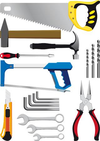 cutting blade: otro conjunto de herramientas de mano aislados en blanco Vectores