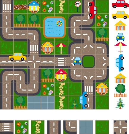 green street: Mapa  Dise�o de las calles de una ciudad peque�a. Es f�cil de editar y cambiar el mapa de ubicaci�n