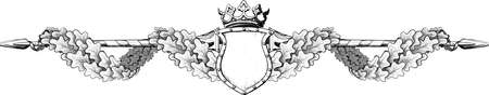 oak wreath: The title of the form in the Victorian style painted in the form of an engraving