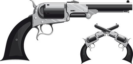 fusil de chasse: revolver de cow-boy Illustration