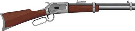 Lever Rifle Winchester rifle that won the West Vector