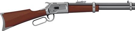 fusil de chasse: Levier Carabine Winchester carabine qui a remporté l'Ouest Illustration
