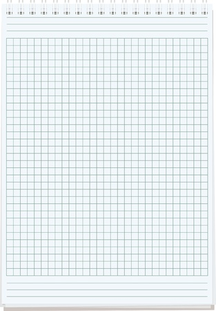 notepads  Blank sheet of paper for notes isolated on white Stock Vector - 17661000