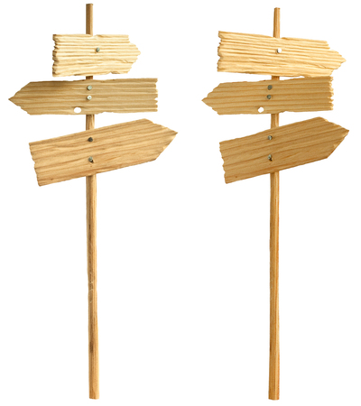 slightly: two wooden pointer with three plates in slightly different positions