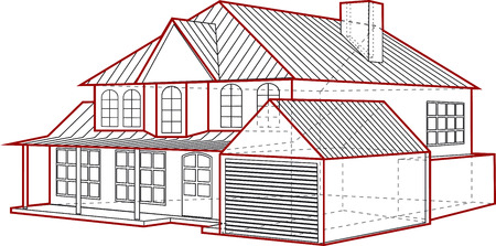 plan maison: Maison plan  Illustration