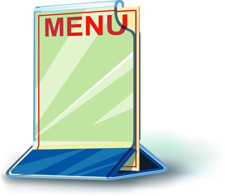 Plexiglas plate menu