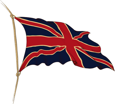 apex: flag of Great Britain Illustration