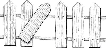 hillbilly: fence Illustration