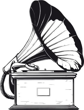 gramophone: vintage gramophone