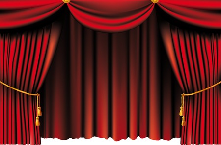 velvet rope: Red theater curtain