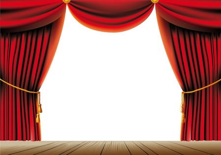 theater auditorium: Red theater curtain