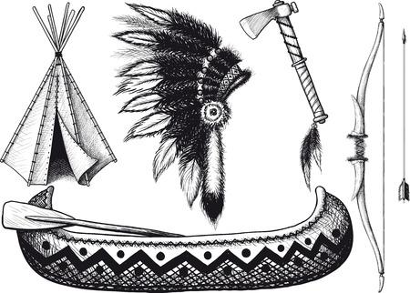 Indian icon Set Illustration