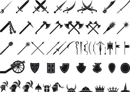 rycerz: średniowiecznych broni Ilustracja