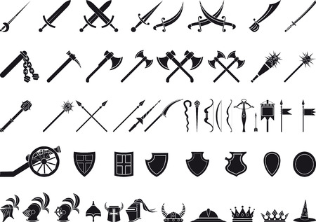 medieval weapons Vectores