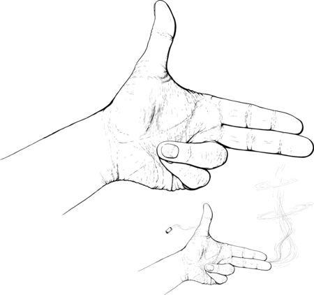 sparare: dita sparano