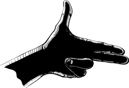 fingers shoot black