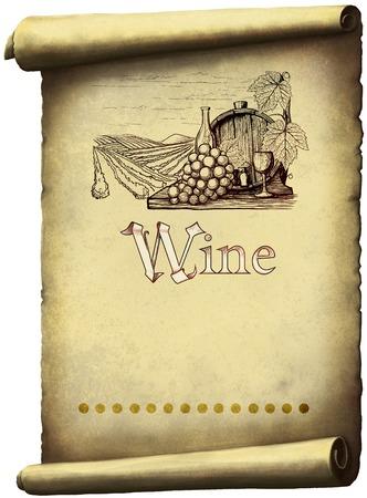 wine vineyards: Vintage wine label
