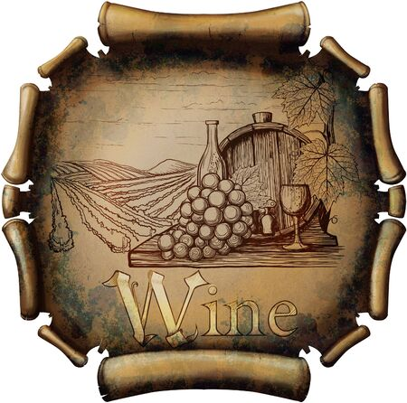the land of menu: Vintage wine label