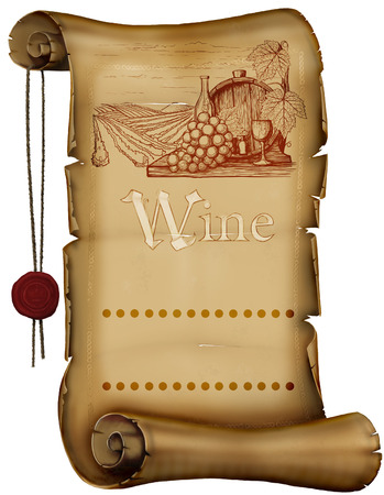 menu land: Vintage wine label