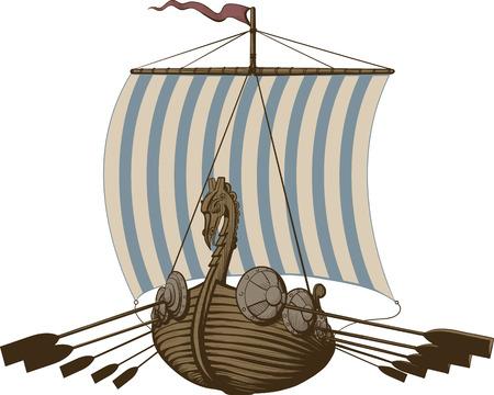 vikingo: Batalla de Barcos Vikingos