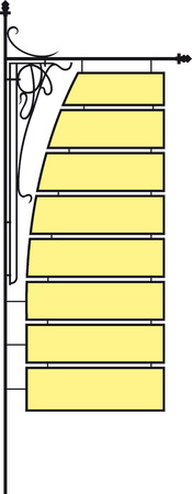 streetlamp: lattice with a signboard