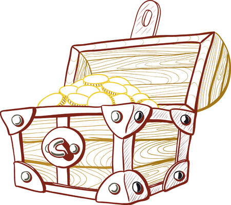 pirate treasure: Treasure Chest Illustration