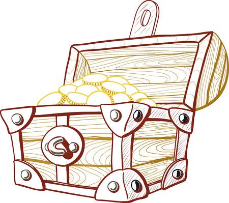 treasure box: Treasure Chest Illustration