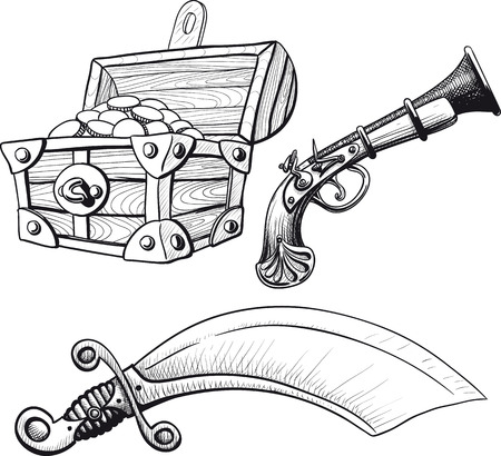 gold treasure: Little Pirate Ste Illustration
