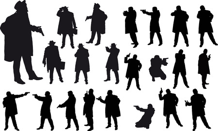 bad: Black gangster silhouette