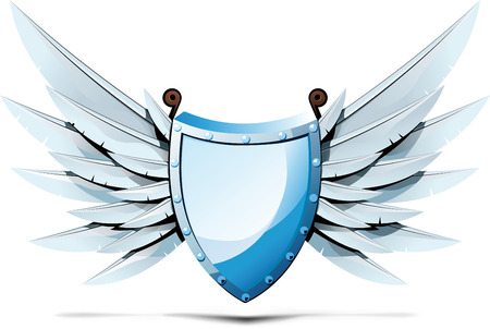 shield wings: Shield with wings of swords