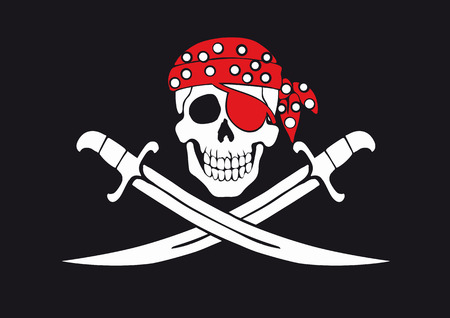 warning signs: Jolly Roger pirate flag