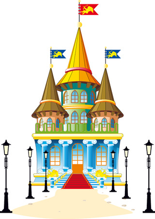 toy house: Fairytale castle Illustration