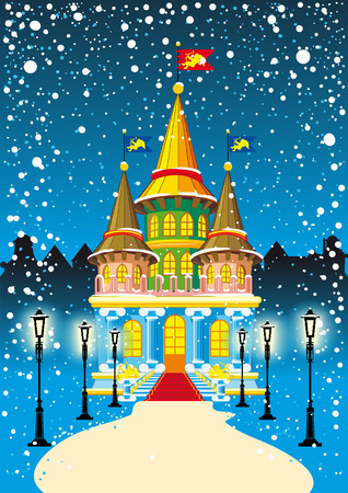fairy princess castle Vector