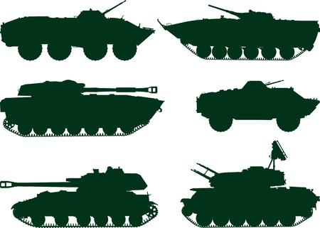 tanque de guerra: conjunto de antiguos veh�culos militares sovi�ticos ahora est� tomando parte en el conflicto de Ucrania y Siria