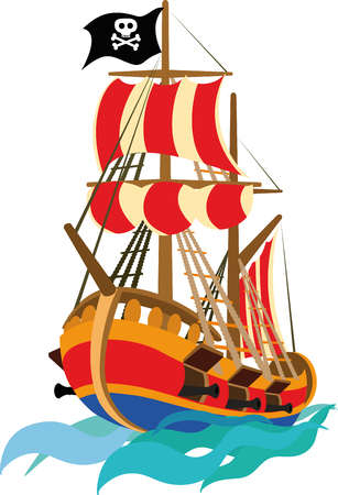 galleon: Funny pirate ship to be placed on the child than
