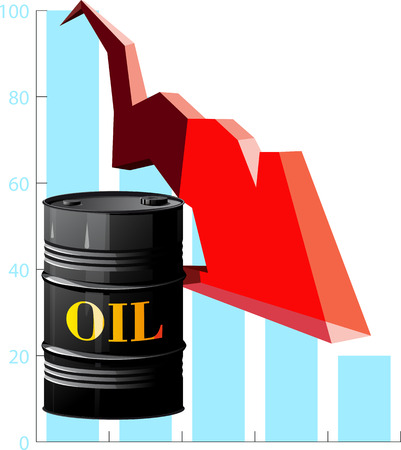 metal barrel: metal barrel with oil and schedule fall in prices