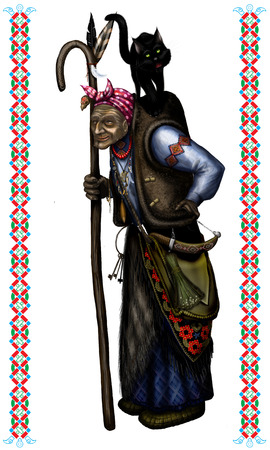 ugliness: Old bent Baba Yaga, the Slavic character of ancient fairy tales and horror stories for children