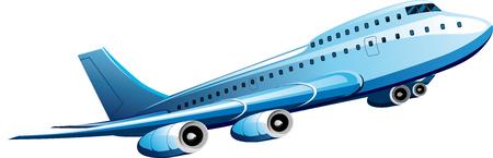 the passenger: Large passenger plane taking off isolated on white backgrounds