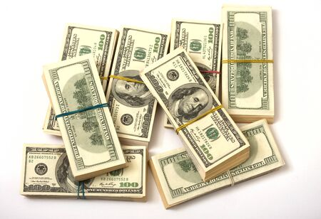 clerical: approximately eighty thousand American dollars spread on the stacks and strapped clerical gum